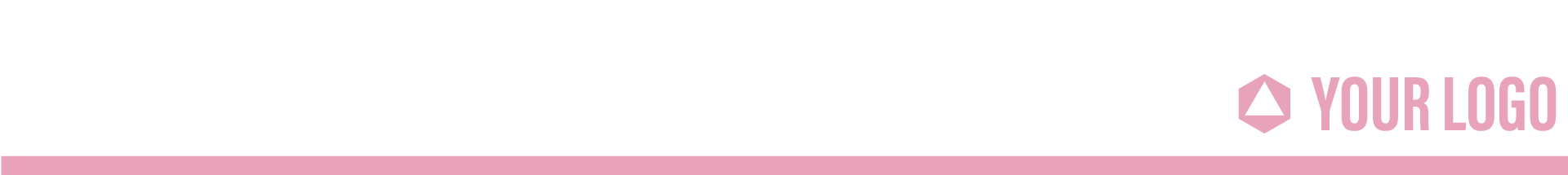pink colored header with company logo